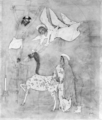 Tinta, llapis i aquarel·la. 50x43cm. 1953