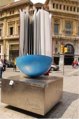 Homentage al llibre de Joan Brossa (Passeig de Gràcia, Barcelona, 1994)