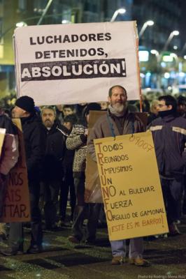 Manifestació dels veïns del barri de Gamonal (Burgos) contra la construcció d'un nou bulevard